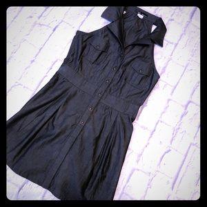 Black Charcoal chambray dress